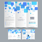 Business Tri Fold Brochure design. Two Pages Professional Tri Fold Brochure presentation for your Business Stock Photos