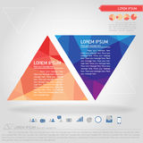 Business triangle banner and business icon. Vector Royalty Free Stock Image
