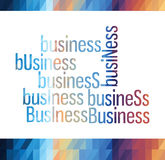 Business triangle colorful vector Royalty Free Stock Photo