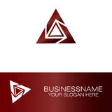 Business triangle logo. This is business triangle logo Royalty Free Stock Images
