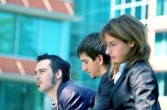 Business Trio Blue Tint 2 Stock Photography