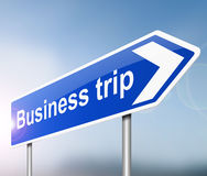 Business trip concept. Royalty Free Stock Images