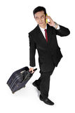 Business trip, high angle Royalty Free Stock Images