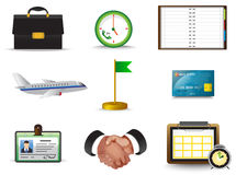 Business trip icon collection set Royalty Free Stock Photo