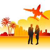 Business trip vector. Business trip illustration (travel concept Royalty Free Stock Photography