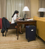 Business trip - working late Royalty Free Stock Photography