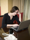 Business trip - working late frustration Stock Image