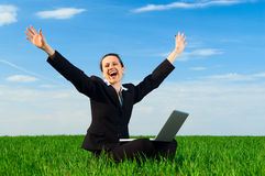 Business triumph Royalty Free Stock Photos