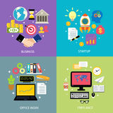 Business types concept flat Royalty Free Stock Photos