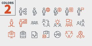 Free Business UI Pixel Perfect Well-crafted Vector Thin Line Icons 48x48 Ready For 24x24 Grid For Web Graphics And Apps With Royalty Free Stock Photos - 126991748