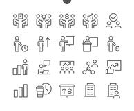 Business UI Pixel Perfect Well-crafted Vector Thin Line Icons 48x48 Ready for 24x24 Grid for Web Graphics and Apps with. Editable Stroke. Simple Minimal Royalty Free Stock Photo