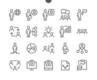 Business UI Pixel Perfect Well-crafted Vector Thin Line Icons 48x48 Ready for 24x24 Grid for Web Graphics and Apps with. Editable Stroke. Simple Minimal Stock Image
