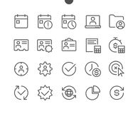 Business UI Pixel Perfect Well-crafted Vector Thin Line Icons 48x48 Ready for 24x24 Grid for Web Graphics and Apps with Stock Image