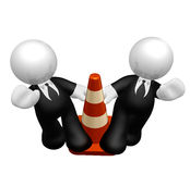 Business under construction Royalty Free Stock Photos