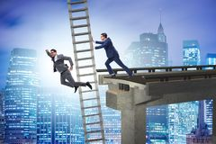 The business unethical competition concept with businessmen. Business unethical competition concept with businessmen Stock Image