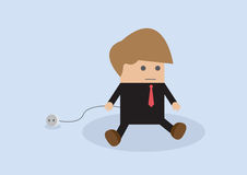 Business unplug and stop working. VECTOR, EPS10 Royalty Free Stock Image