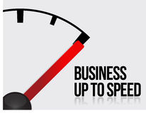 Business up to speed concept stock illustration