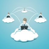 Business use of cloud technology Royalty Free Stock Photography