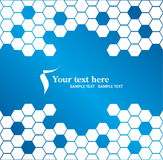 Business vector background. Blue business abstract vector background Royalty Free Stock Images