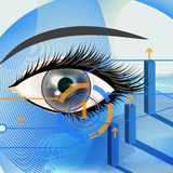 Business vector background with blue eye Royalty Free Stock Photos