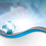 Business vector blue silver background global concept Stock Photo