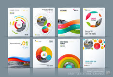 Business vector. Brochure template layout, cover soft design ann. Ual report, magazine, flyer in A4 with colourful circle, rounds, sphere for business, tech vector illustration