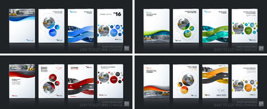 Business vector. Brochure template layout, cover soft design ann Stock Image