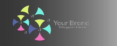 Business vector concept logo. Vector Illustration. Icon design element with business card template Royalty Free Stock Image