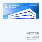 Business vector design elements for graphic layout. Modern abstr. Act background template with blue building shapes for construction, house, home theme.r stock photos