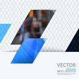 Business vector design elements for graphic layout. Modern abstr. Act background template with blue diagonal, triangular shapes for PR, business, tech in clean Stock Photo