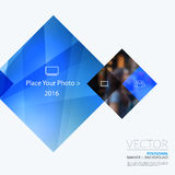 Business vector design elements for graphic layout. Modern abstr. Act background template with blue rectangles, geometric shapes for PR, business, tech in clean royalty free stock photography