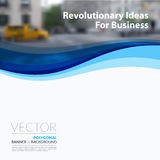 Business vector design elements for graphic layout. Modern abstr. Act background template with blue soft waves, smooth shapes for IT, technology in clean minimal stock images