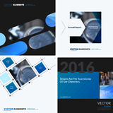 Business vector design elements for graphic layout. Modern abstr. Act background template with blue squares, triangles, diagonal geometric shapes for tech in Stock Photo