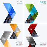 Business vector design elements for graphic layout. Modern abstr. Act background template with colourful arrows, triangles for PR, business, tech in clean stock images