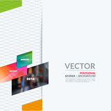 Business vector design elements for graphic layout. Modern abstr. Act background template with colourful diagonal, triangular shapes for PR, business, tech in Stock Photo