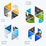Business vector design elements for graphic layout. Modern abstract background template with colourful hexagonal, triangular. Shapes for PR, business, tech in stock photos