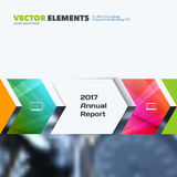 Business vector design elements for graphic layout. Modern abstr. Act background template with colourful rectangles, arrows, shadows for tech, market, innovative Stock Images