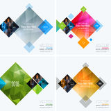 Business vector design elements for graphic layout. Modern abstr. Act background template with colourful rectangles, geometric shapes for PR, business, tech in royalty free stock photography
