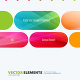 Business vector design elements for graphic layout. Modern abstr. Act background template with colourful rounded rectangles for tech, market, innovative stock images