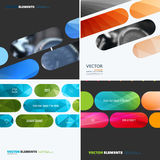 Business vector design elements for graphic layout. Modern abstr. Act background template with colourful rounded rectangles for tech, market, innovative Royalty Free Stock Image