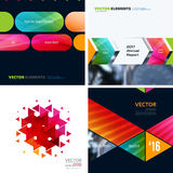 Business vector design elements for graphic layout. Modern abstr. Act background template with colourful squares, triangles, diagonal geometric shapes for tech Royalty Free Stock Image