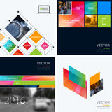 Business vector design elements for graphic layout. Modern abstr. Act background template with colourful squares, triangles, diagonal geometric shapes for tech Royalty Free Stock Photo