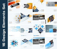 Business vector design elements for graphic layout. Modern abstr. Act background template with colourful squares, triangles, diagonal geometric shapes for tech Royalty Free Stock Photos
