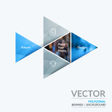 Business vector design elements for graphic layout. Modern abstr. Act background template colourful triangular shapes for PR, business, tech in clean minimal Stock Photo