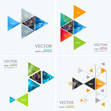 Business vector design elements for graphic layout. Modern abstr. Act background template colourful triangular shapes for PR, business, tech in clean minimal stock images