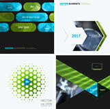 Business vector design elements for graphic layout. Modern abstr. Act background template with green eco squares, triangles, diagonal geometric shapes for tech Stock Photo