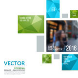 Business vector design elements for graphic layout. Modern abstr. Act background template with green rectangles, squares for PR, business, tech in clean minimal royalty free stock photography