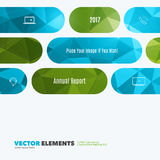 Business vector design elements for graphic layout. Modern abstr. Act background template with green rounded rectangles for tech, market, innovative technology Royalty Free Stock Photos