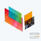 Business vector design elements for graphic layout. Modern abstr. Act background template ith colourful diagonal abstract shapes for construction, teamwork theme Stock Photo