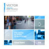 Business vector design elements for graphic layout. Modern abstr Royalty Free Stock Image